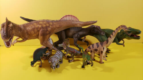 Schleich Lot 8 Dinosaur Prehistoric Giganotosaurus Tyranosaurus Spinosaurus etc.