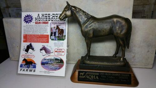 AQHA Open Grand Champion Stallion KELOS COWBOY Horse Trophy