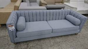 CAMILLA FABRIC 3 SEATER SOFA - HIGH QUALITY FACTORY SECOND Richmond Yarra Area Preview