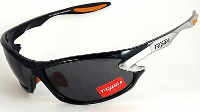 SRS MENS UNISEX BLACK Sunglasses Polarized WRAP QUALITY SPORT SKIING BIKER STYLE