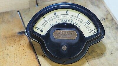 Weston Model 273 Ammeter Vintage Steam Punk Late 1800s Industrial Gauge