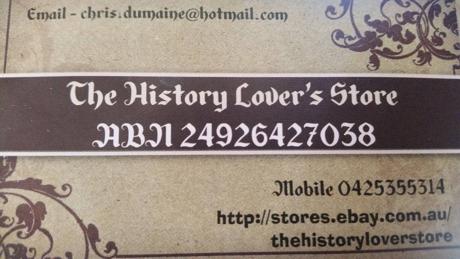 The History Lovers Store