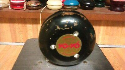 Vintage Genuine Satellite Jeweled Woodem YoYo,black,1960's,rare,gd!