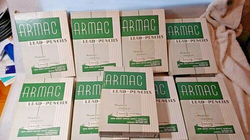 Vintage ARMAC New Jersey Office Supply No. 2 Wood Pencils 1/2 Gross Box NOS