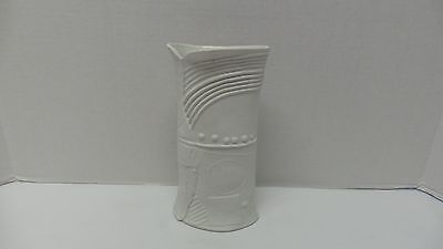 Vintage RORSTRAND Sweden Art Pottery White Terra Abstract Vase BERTIL VALLIEN
