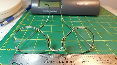 T&P Antique Wire Rim Round Frame Eyeglasses France