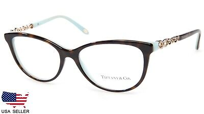 "NEW TIFFANY & Co. TF 2120-B 8134 HAVANA EYEGLASSES 53-16-140 B39mm Italy ""READ"""