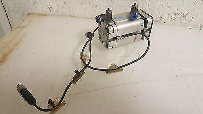 Festo Compact Pneumatic Cylinder w/ Balluff Limits, ADVUL-25-20-P-A, WARRANTY