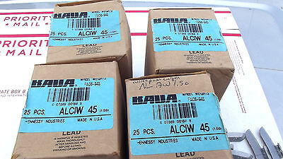 4BOXES PASSENGER COATED WL WEIGHT( 25EACH )ALCIW 45(1.59)WIDE CLIP AS AW1.50.***