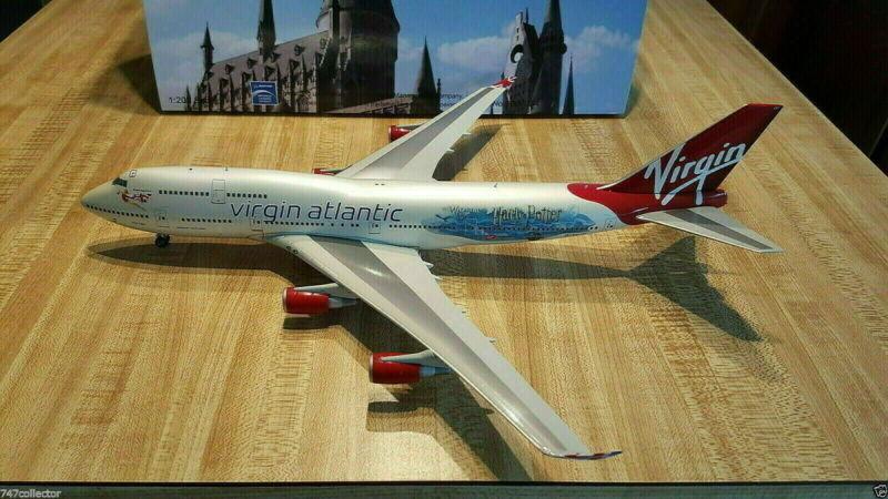Blue BOX / Inflight200 Virgin Atlantic B 747-443 1:200 Harry Potter G-VLIP
