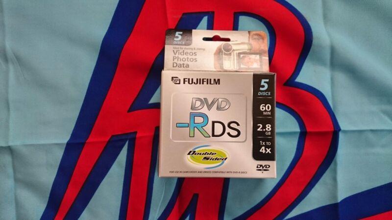 50 FUJI 80MM (MINI) DVD-R 2.8GB 60 MIN W/ CASES RETAIL PK Double Sided 25302910