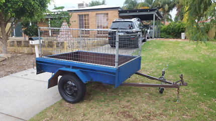 6X4 trailer/cage for boat/tinnie on trailer +small motor