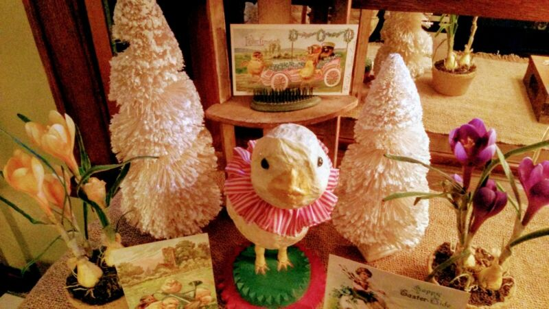 ☆EASTER☆CHICK☆VINTAGE☆RARE☆ COLLECTIBLE☆BETHANY LOWE STYLE☆HOLIDAY☆