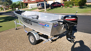 3.6 m  BOAT & 15 HP MERCURY Birkdale Redland Area Preview