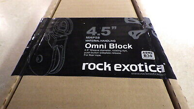 Rock Exotica Mhp58 Omni-block 4.5 Sheave Material Handling Pulley New