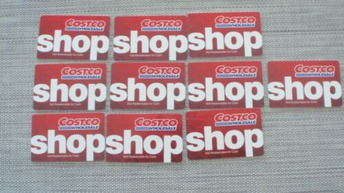 10 COSTCO WHOLESALE GIFT CARD, NO CASH BALUE, FULL STORE ENTRY 0 BALANCE