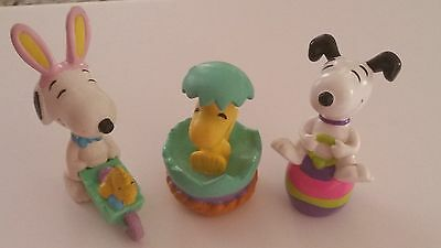 Snoopy PVC Peanuts Gang Easter Set of 3 Snoopy & Woodstock for sale  Saint Augustine