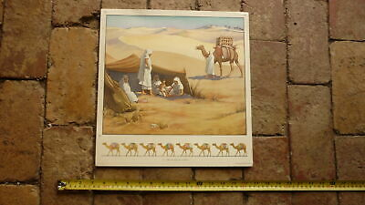 ORIGINAL 1940s AUSTRALIAN CHILDRENS BEDROOM LARGE ARTWORK PRINT, PATIENT CAMEL for sale  Shipping to United States