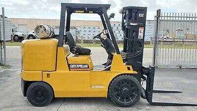 Caterpillar Forklift 15500 Lbs Cat Gc70k Propane Rigger Fork Lift