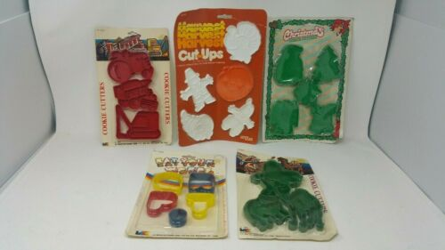 Cookie Cutters Thanksgiving Christmas Letters Animals Construction Equipment NIP