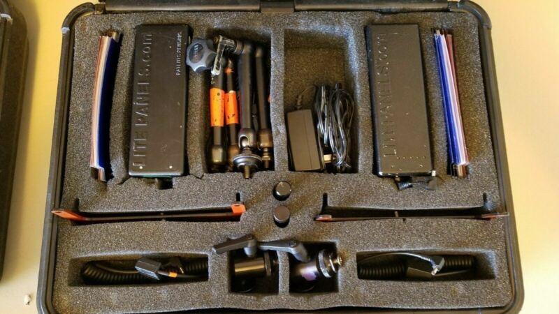 LitePanels Mini DUAL LED Kit w/2 5500/Flood Unit w/ Hard Case D-Taps Accessories