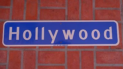 HOLLYWOOD BLVD California Highway Road Sign CITY OF LOS ANGELES 36