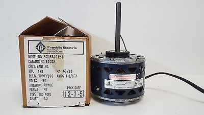Nos Packard Franklin Electric Shade Pole Motor 1050900rpm 82234 8715810121