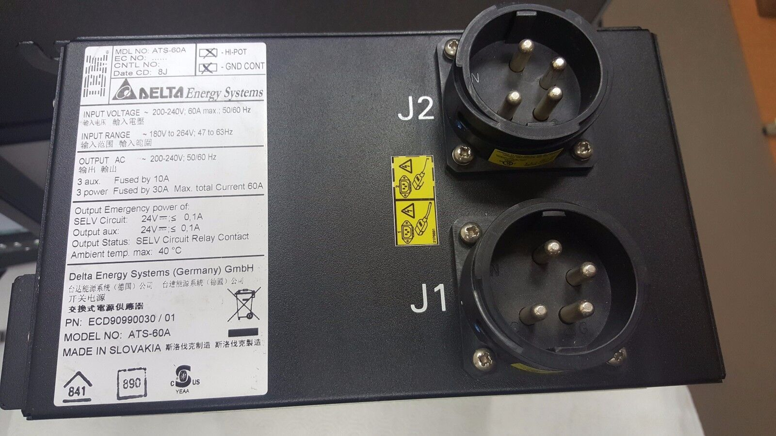 Ibm Delta Automatic Transfer Switch Model Ats 60a Ecd90990030 100 Amp From Progressive 4 Of 9 45w3164 45w048 5