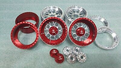 4PCS Aluminum Custom 2.2inch Beadlock  Wheels &  Wheel Caps for 1/10 RC Crawler