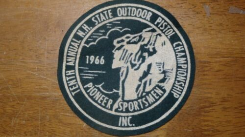 PIONEER SPORTSMEN CLUB NEWHAMPSHIRE 10TH PISTOL OUTDOOR  1966 PATCH  BX 10#2