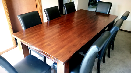 Solid Hardwood Table 8 Chairs