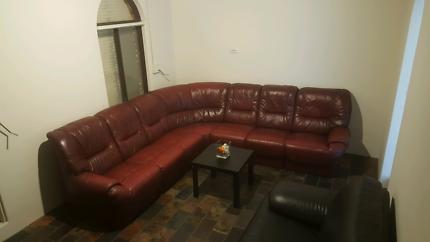 Beautiful FREEDOM genuine leather, TRULY MODULAR lounge RRP$3900.