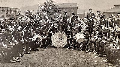 1920s PITTSBURGH PA ALL BLACK K OF P BAND CONCERT & DANCE SIGN WASHINGTON PA