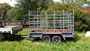 10 x 5 tandem trailer + stockcrate Tumbarumba Tumbarumba Area Preview