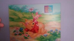 Large winnie the pooh character laminate