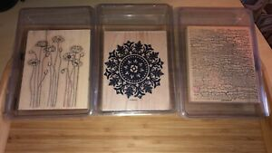 Stampin Up background wood mounted stamp sets