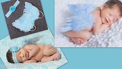 ★★★ NEU Baby Fotoshooting Kostüm 2Tlg. Kleiner Engel 0-6 Monate hellblau ★★★AD
