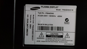 """I WANT TO BUY PARTS FOR A SAMSUNG 64"""" PLASMA TV MODEL PS64E550D1M Kallangur Pine Rivers Area Preview"""