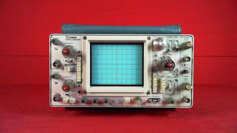 Tektronix 465 100 MHz, Dual Channel, Analog Oscilloscope