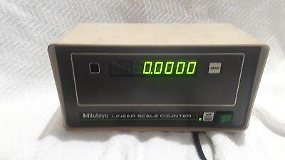 Mitutoyo Model 164-654a Linear Scale Counter Please Read Description