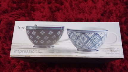 Freedom Impressions Moroccan Soup Mugs (New)