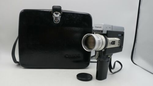 Canon Auto Zoom 518 Super 8 Movie Camera w/ Zoom 9.5mm-47.5mm & Case - Tested