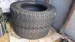 2 x used tyres BFGoodrich All-Terrain ko 265/65R18 Albury Albury Area Preview