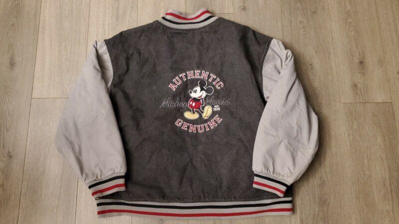 Authentic Mickey Mouse Denim Varsity Jacket Sz XL Vintage Disney Store Original