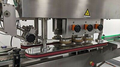 Automatic Bottle Capper Capping Machine 6 Spindle With Hmi And Conveyor