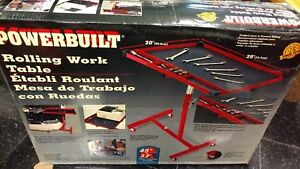 Powerbuilt Rolling work table.