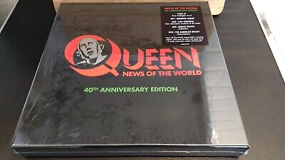 QUEEN – NEWS OF THE WORLD VINYL LP 3x CD & DVD 40TH ANNIVERSARY BOX SET NEW