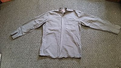 CLERGY NECKBAND SHIRT 100% BAUMWOLLE DOVE GRAY LONG SLEEVES SMALL