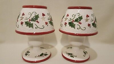 Christmas Holly Berry Ceramic Votive Candle Lamps with (Candle Shades Wholesale)