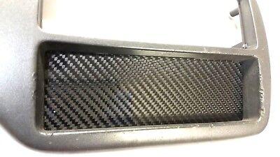 Carbon Fiber Radio Plate - CARBON FIBER Single DIN Radio Stereo Console Block Off Plate Delete for Honda EG